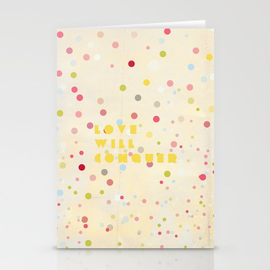 Love will conquer Stationery Cards