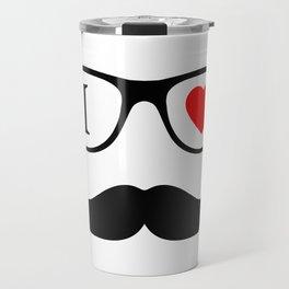 I Love Hipster Travel Mug