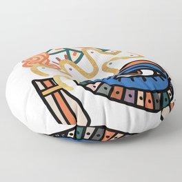 Aquarius - Abstract Zodiac Sign Floor Pillow