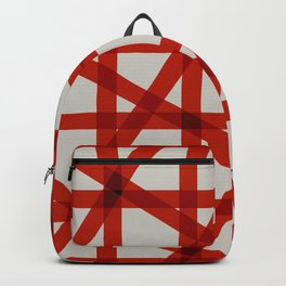 singular bright grid pattern in contrasting colors 3 Backpack