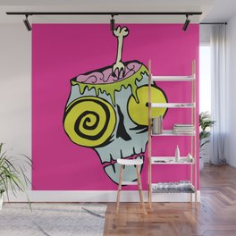 Brains for dinner! Brains for lunch! Wall Mural