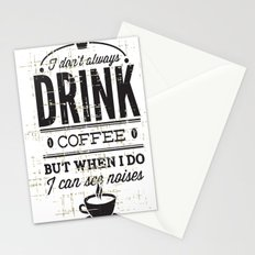 Drink Coffee Stationery Cards