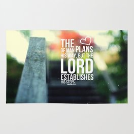 The Lord establishes his steps  Rug