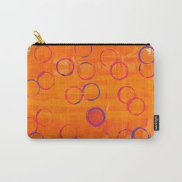 Playful Tangerine Carry-All Pouch