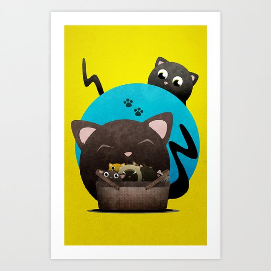 Mommacat Art Print