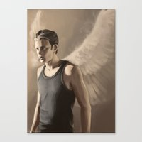 roman Canvas Prints featuring Roman by Miki Price