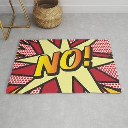 NO Comic Book Pop Art Fun Modern Graphic Rug
