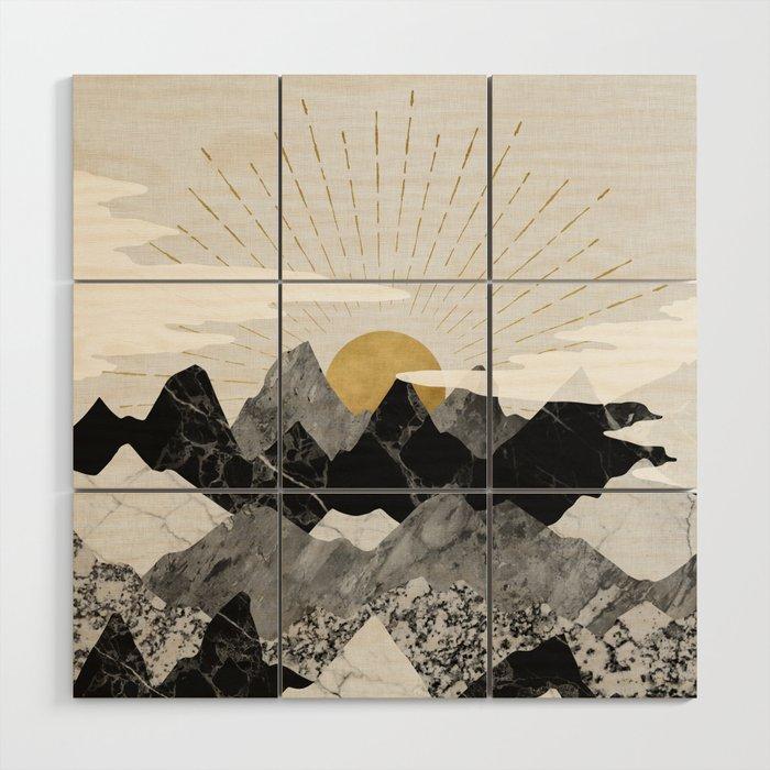 Sun rise Wood Wall Art