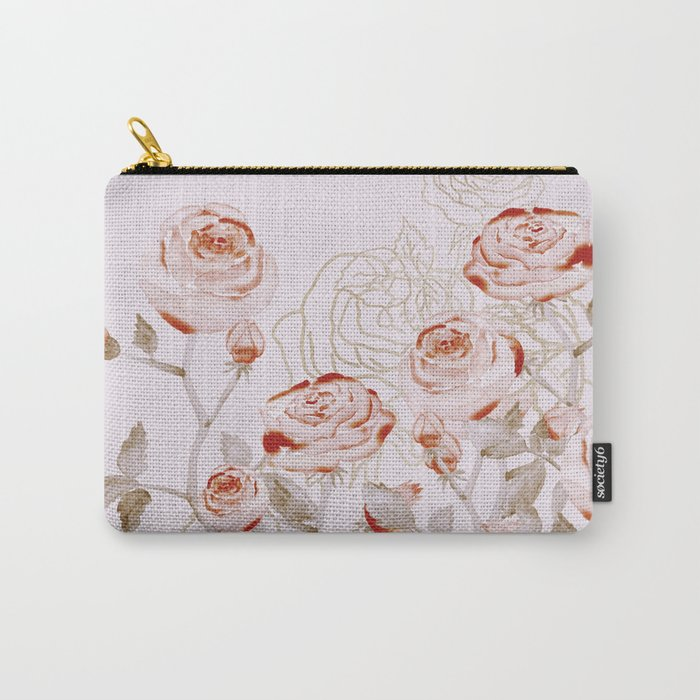FRENCH PALE ROSES Carry-All Pouch
