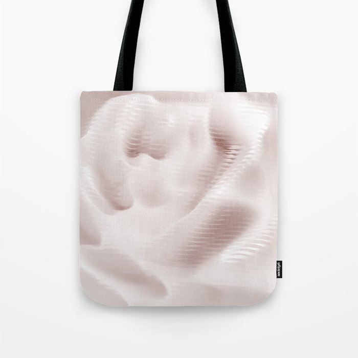 Rose in abstract wave texture Tote Bag