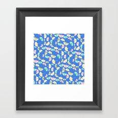 Gingko Leaves on Cobalt Framed Art Print