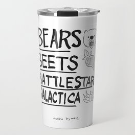 Bears, Beets, Battlestar Galactica Travel Mug