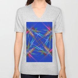 Fractal laser show Unisex V-Neck