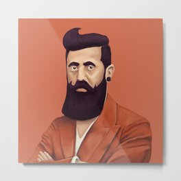 The Israeli Hipster leaders - Binyamin Ze'ev Herzl Metal Print
