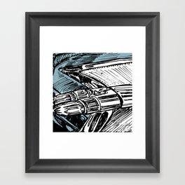 CADILLAC TAIL FIN Framed Art Print