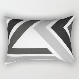Black and white dynamic banners II Rectangular Pillow
