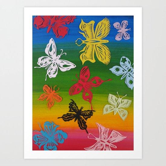 colorful Butterflies (1) Art Print
