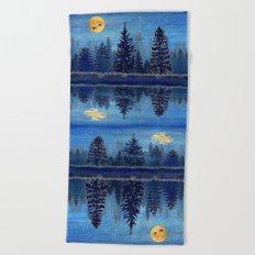 Denim Design Pine Barrens Reflection Beach Towel