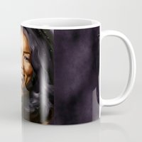queen Mugs featuring Queen by Lily Fitch
