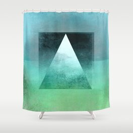 Triangle Composition X Shower Curtain