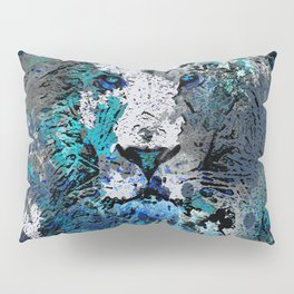 LION PRIDE ABSTRACT INK SPLASH PORTRAIT Pillow Sham