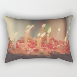 Happy Birthday Cupcakes Rectangular Pillow