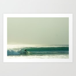 Surfing - Going Left Art Print