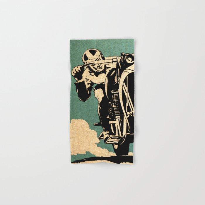 Motorcycle Race Hand & Bath Towel