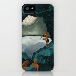 Space Spelunking iPhone Case