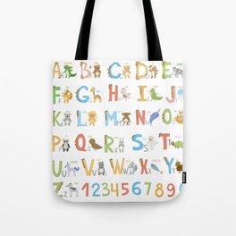 Animals Alphabet Tote Bag