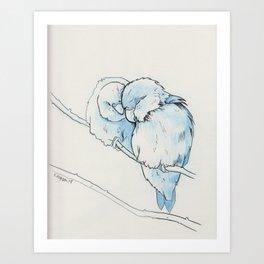 lovebirds (1) Art Print