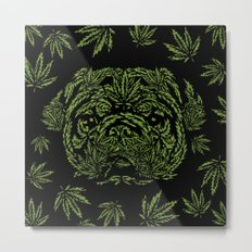 Marijuana of Pug Metal Print