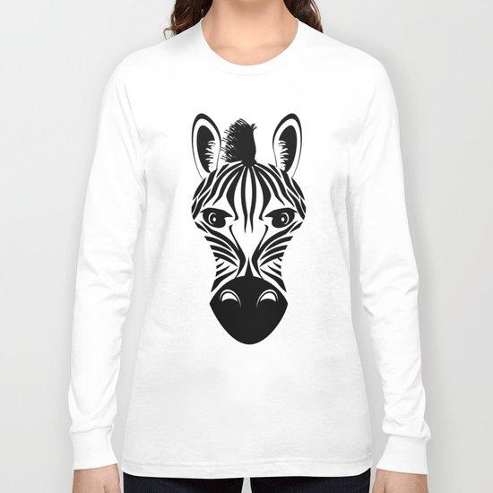Black and White Zebra Pattern Long Sleeve T-shirt