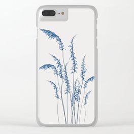 Blue flowers 2 Clear iPhone Case