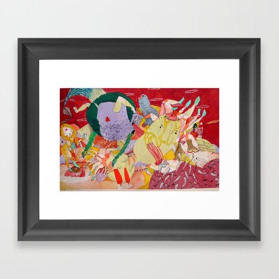 white mage Framed Art Print