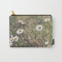 Matte Flowers Carry-All Pouch