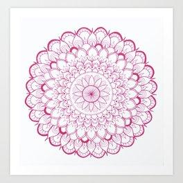 Magenta Mandala Art Print