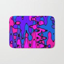 Purple Blue Pink Abstract Art Bath Mat