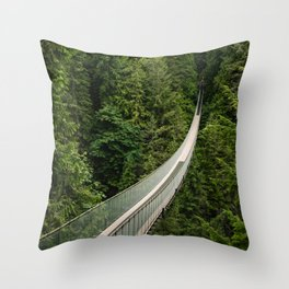 Capilano Suspension Bridge Throw Pillow
