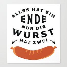German Sausage Oktoberfest Canvas Print