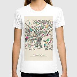 Colorful City Maps: Philadelphia, Pennsylvania T-shirt