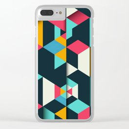 frames geometric colors Clear iPhone Case