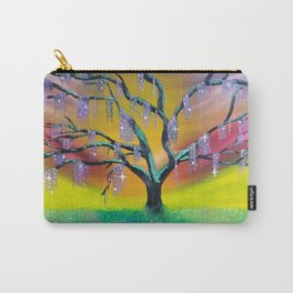Entanglement, colorful tree landscape, beautiful landscape, cypress tree Carry-All Pouch