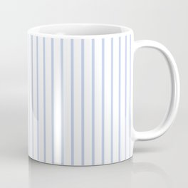 Alice Blue Pinstripe on White Coffee Mug