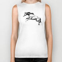horse Biker Tanks featuring Horse by Anna Shell