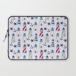 Watercolor Lighthouses Laptop Sleeve