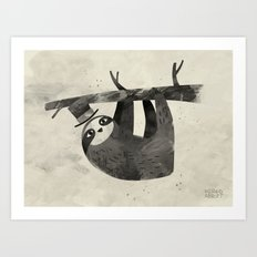 Mr. Sloth Art Print