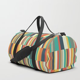 Stripes Pattern Duffle Bag