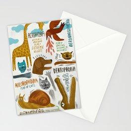 Phobias Stationery Cards
