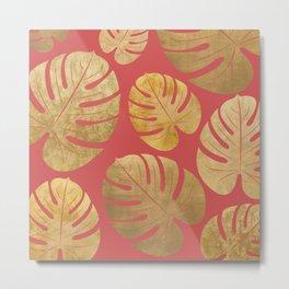 Gold Leaf pattern Metal Print